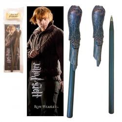 Varita boligrafo y marcapaginas Ron Weasley Harry Potter