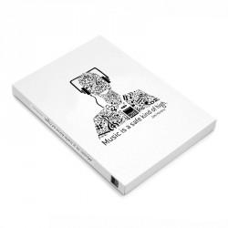 Libro blanco A6 Music blanco