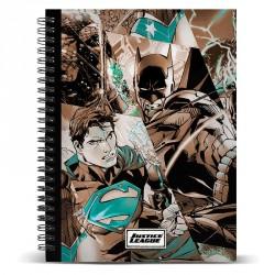 Cuaderno A4 Liga de la Justicia DC Comics