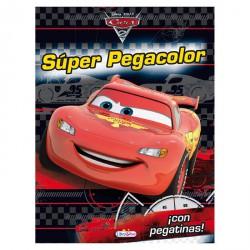 Cuaderno actividades super pegacolor Cars Disney
