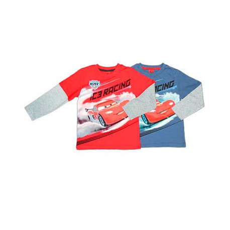 Camiseta Cars Disney doble manga surtido