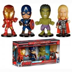 Set mini cabezones Wacky Wobbler Vengadores Avengers Marvel Age of Ultron