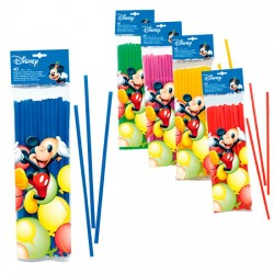 Pack 40 pajitas fiesta Mickey Disney Playful flexibles