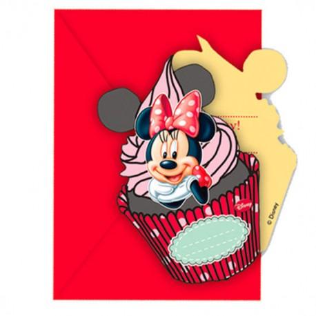 Pack 6 invitaciones fiesta Minnie Disney Cafe