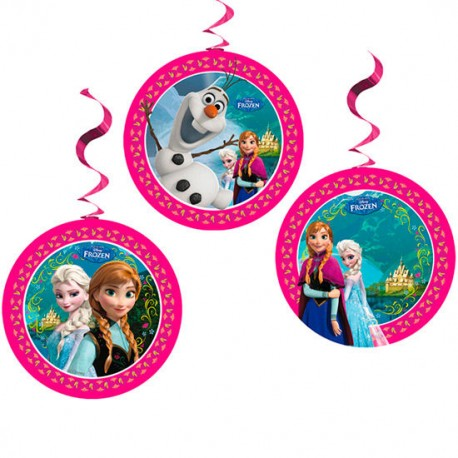 Pack 3 guirnaldas fiesta Frozen Disney surtido