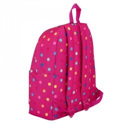 Mochila Benetton Dots Pink 42cm