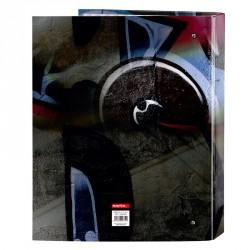 Carpeta Kelme Graffiti A4 anillas lomo ancho