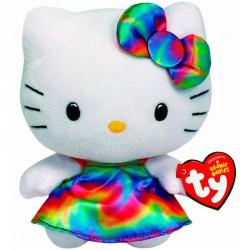 Peluche Hello Kitty TY Beanie Babies Arcoiris 14cm