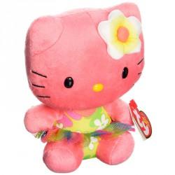 Peluche Hello Kitty TY Beanie Babies Rosa 15cm