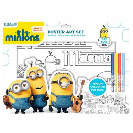Set poster colorear Minions