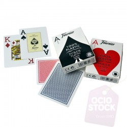 Barajas cartas Poker plastico