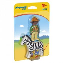Hombre con Cebra Playmobil 1.2.3