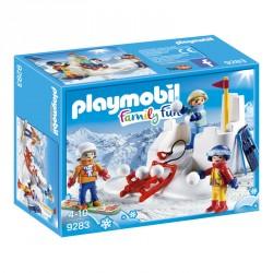 Lucha de Bolas de Nieve Playmobil FamilyFun
