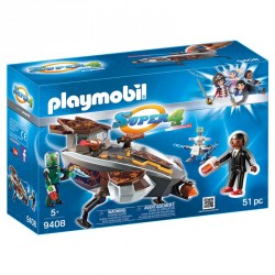 Gene y Sykroniano con Nave Playmobil Super 4