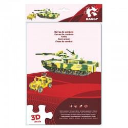 Puzzle 3D Baggy Tanque Jeep 47pz