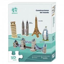 Puzzle 3D Baggy Construcciones del mundo set1 82pz