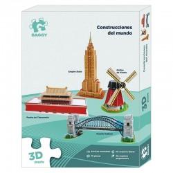 Puzzle 3D Baggy Construcciones del mundo set2 76pz