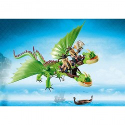Dragon 2 Cabezas con Chusco y Brusca Dragons Como Entrenar a tu Dragon Playmobil