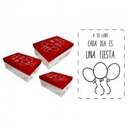 Set cajas regalo Baggy fiesta