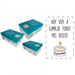 Set cajas regalo Baggy deseos