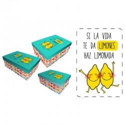 Set cajas regalo Baggy limones
