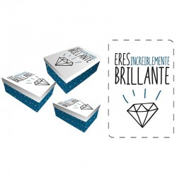 Set cajas regalo Baggy brillante
