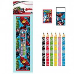 Set papeleria Vengadores Avengers Marvel 9pz