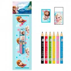 Set papeleria Frozen Disney 9pz