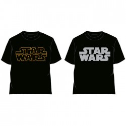 Camiseta Star Wars logo adulto surtido