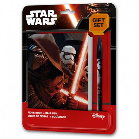 Set papeleria Star Wars Episodio VII agenda boligrafo