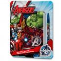 Set papeleria Vengadores Avengers Marvel libreta boligrafo