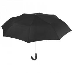 Paraguas plegable automatico negro con mango antiviento 54cm