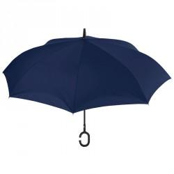 Paraguas manual reversible rayas antiviento surtido 61cm