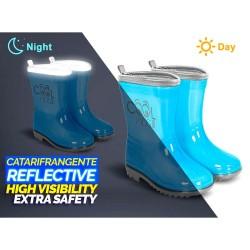 Botas agua Cool Kids reflectante azul