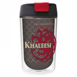 Vaso cafe Juego de Tronos Khaleesi doble pared