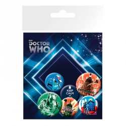 Set chapas retro Doctor Who