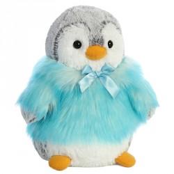Peluche Pinguino Pompon turquesa soft 23cm