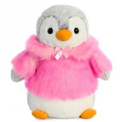 Peluche Pinguino Pompon rosa soft 40cm