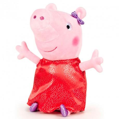 Peluche Peppa Pig Shine & Cakes soft rojo 40cm