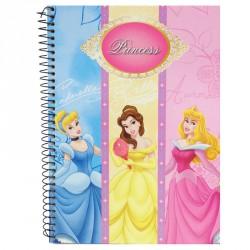 Bloc Princesas Disney A5 rayas espiral 60h