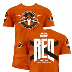 Camiseta Star Wars The Force Awakens Red Squad adulto