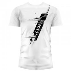 Camiseta Star Wars The Force Awakens X-wing adulto