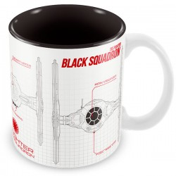 Taza Star Wars The Force Awakens Black Squadron blueprint