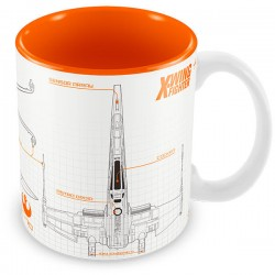 Taza Star Wars The Force Awakens X-wing blueprint
