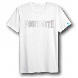 Camiseta Fortnite Logo White adulto
