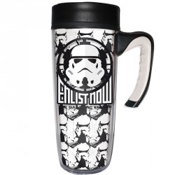 Taza viaje Star Wars Enlist Now doble pared