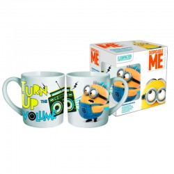 Taza Minions Turn Up Volume ceramica