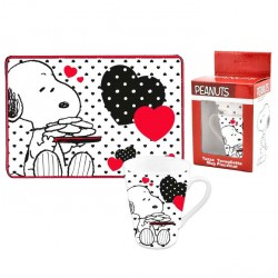 Set taza + mantel Snoopy