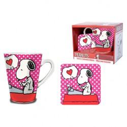 Set taza + posavasos Snoopy