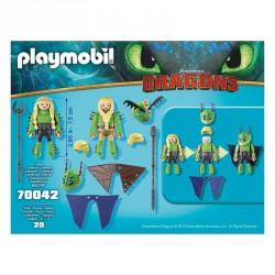 Chusco y Brusca con Traje Volador Como Entrenar a tu Dragon Playmobil